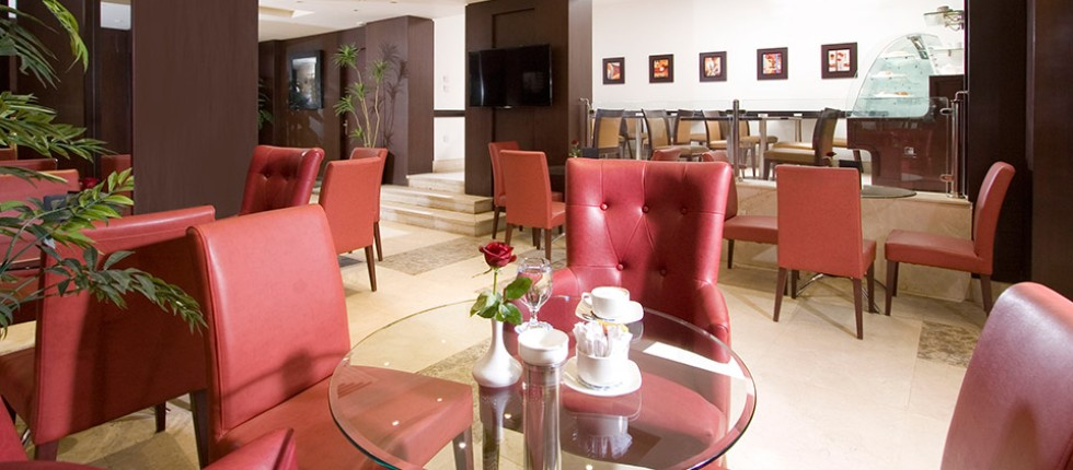 At Lobby area, Wide screen television, a selection of specialist Coffee & Tea.