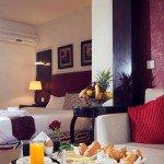 Golden Park junior suite breakfast